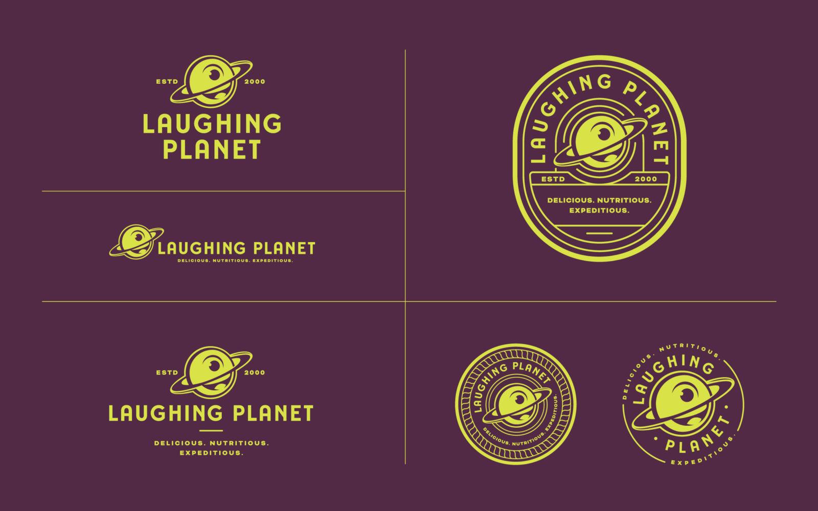 Laughing Planet logo variations