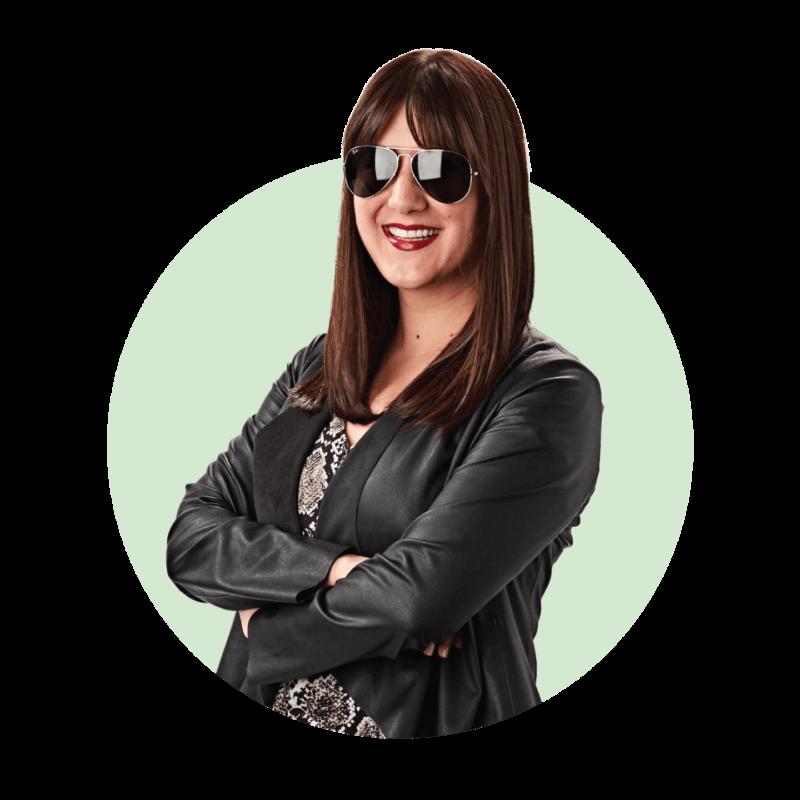 Rekha Lyons from Hillsboro Aviation wearing aviator sunglasses