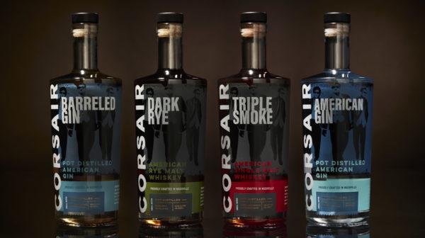 Four Corsair Bottles in Line up