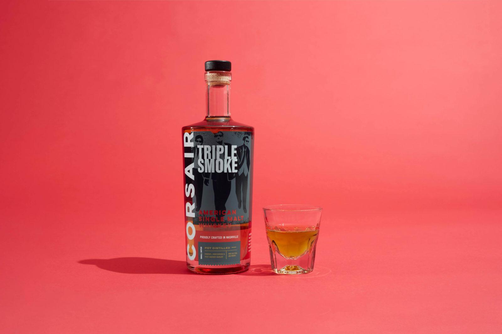 Corsair Single Malt Bottle with Shot Glass