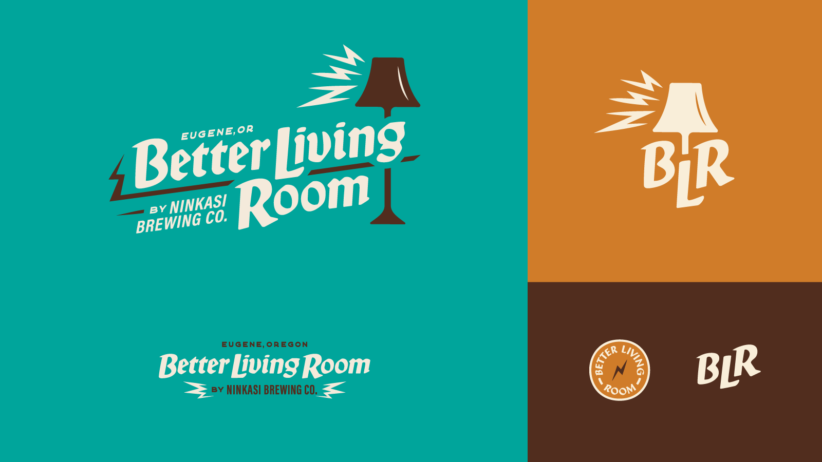 Logo lockups for Ninkasi Brewing Co. Better Living Room