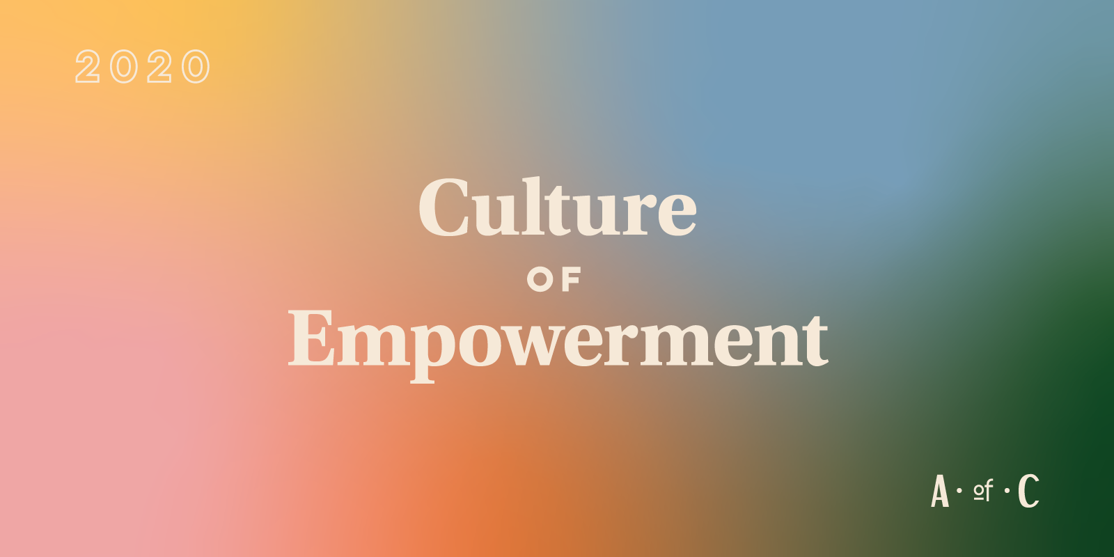 "gradient with type that says ""culture of empowerment"""