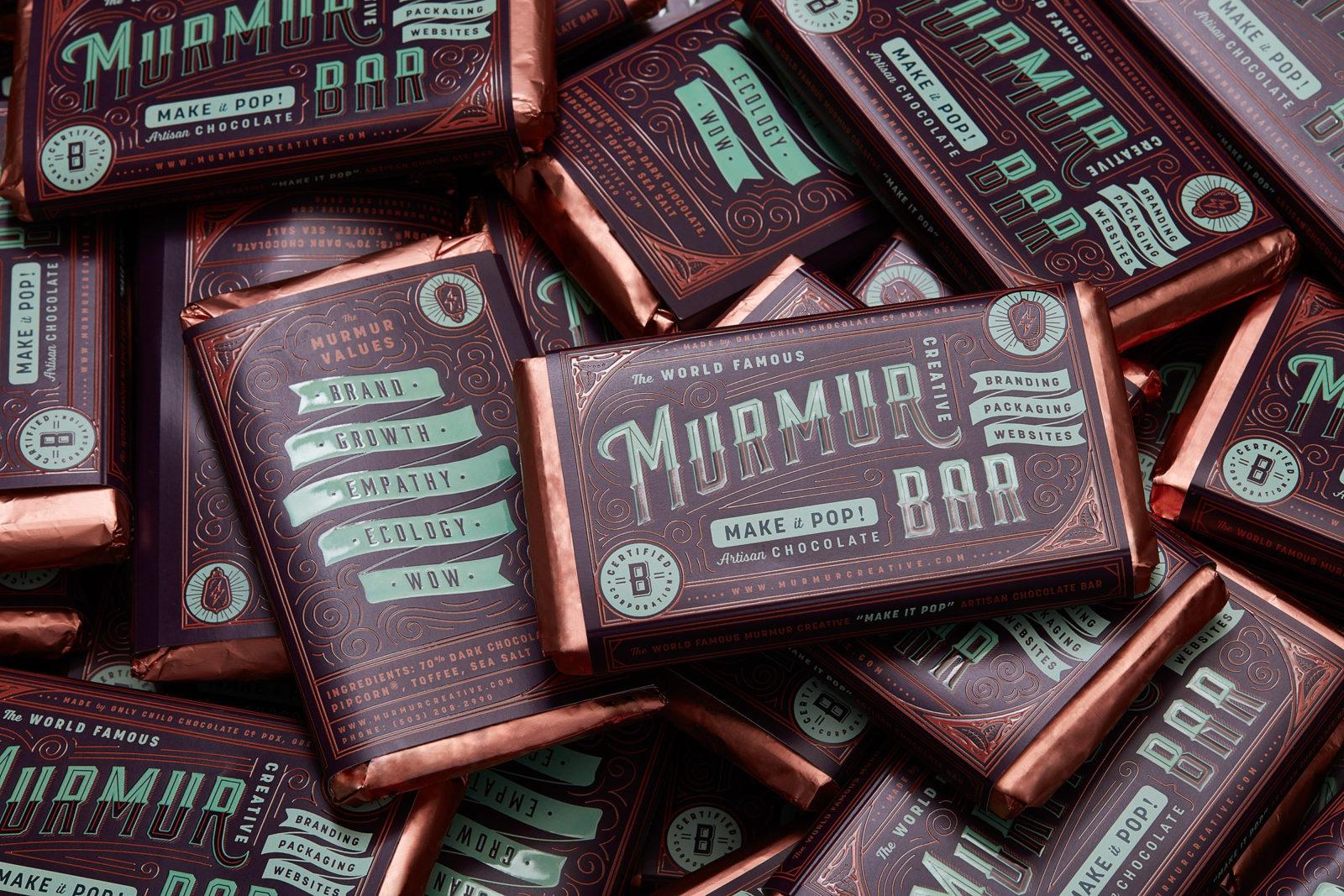 Murmur branded chocolate bar