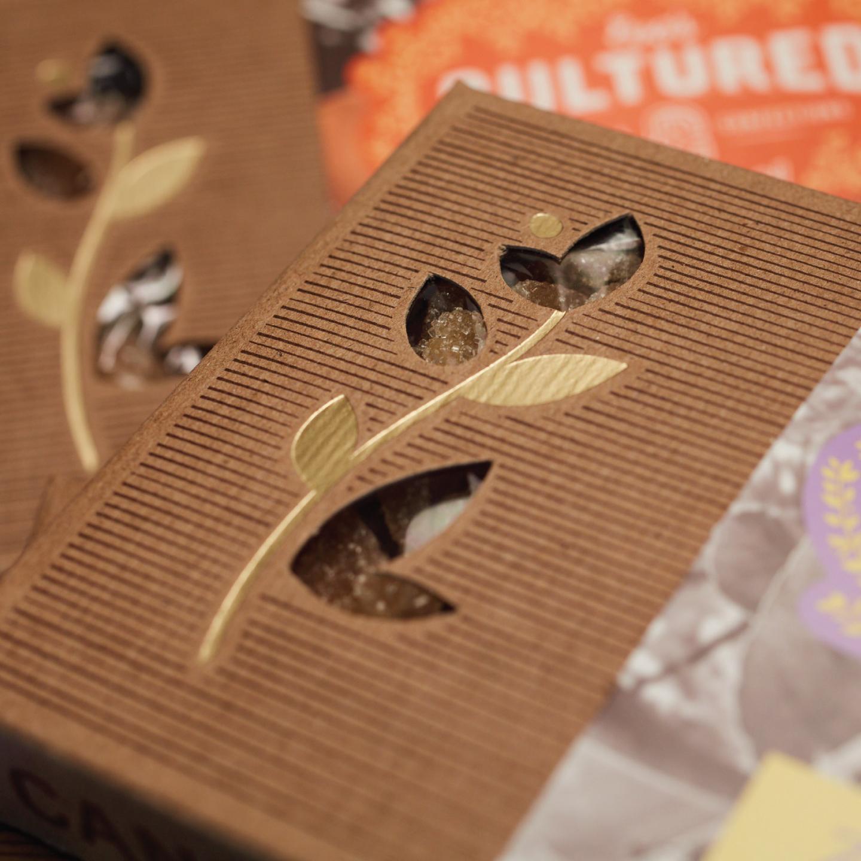 Detail of Eva's Kombucha Candy diecut box