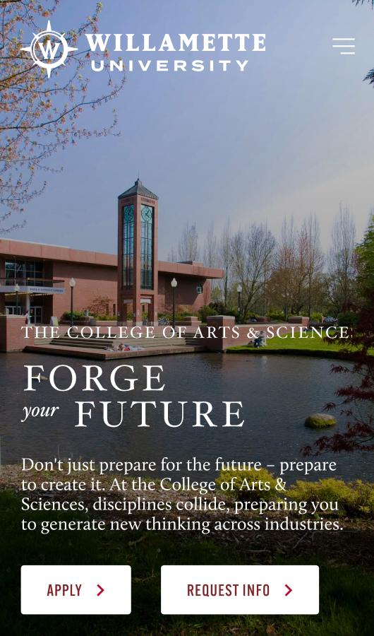 willamette-university-cas-landing-page-mobile