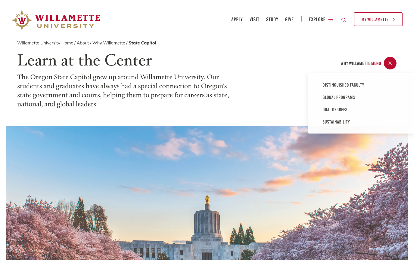 willamette-university-desktop-mockup-learn-at-the-center